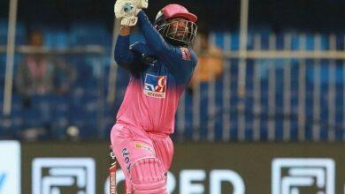 Photo of 6, 6, 6, 6, 0, 6 राहुल तेवतिया के शानदार कमबैक से राजस्थान रॉयल्स की टीम ने आईपीएल का सबसे बड़ा सफल रन चेज़ किया